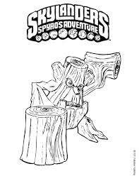 skylander printable coloring pages stump smash coloring pages hellokids com