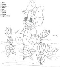 disney character color number pages free coloring books adults
