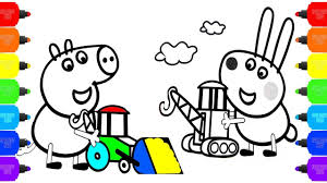 color peppa pig coloring pages draw peppa pig