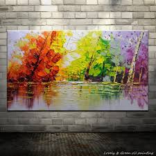 online buy wholesale oil painting of seasonal trees from china oil