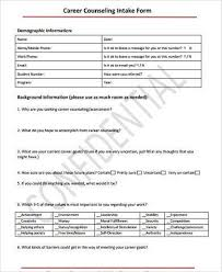 Counseling Intake Form Sle Counseling Intake Forms 9 Free Documents In Word Pdf