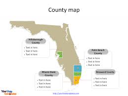 Miami Dade Map Florida Map Powerpoint Templates Free Powerpoint Templates