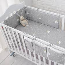 Baby Cot Bedding Sets Muslinlife Grey Crown Bedding Set Baby Safe Sleeping Baby