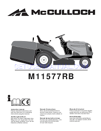 mcculloch lawn mowers m11577rb instruction manual download free
