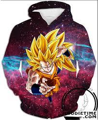 dragon ball super saiyan 3 goku hoodie pullover 3d hoodie