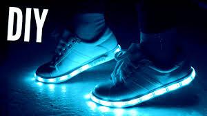 light up tennis shoes for adults diy light up sneakers rosaliesaysrawr youtube