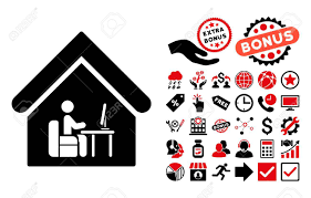 pictogramme chambre office icône chambre avec bonus de pictogramme vector illustration