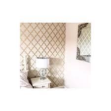 henderson interiors camden trellis wallpaper cream gold h980531