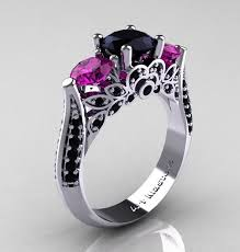 black and pink wedding rings black and pink wedding rings for lake side corrals