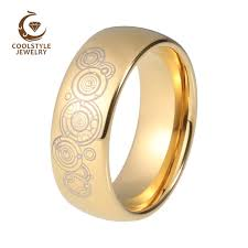 womens gold wedding bands 8mm doctor who men s women s gold color tungsten wedding band