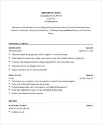 resume template for assistant 10 executive administrative assistant resume templates free