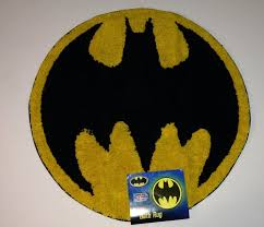 Small Yellow Rug Decorative Yellow And Black Batman Small Round Bathroom Rug For