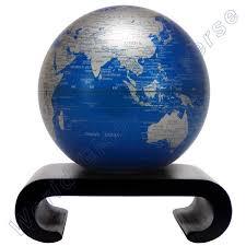 Cobalt B by Mova Cobalt Blue U0026 Silver Decorative Desk Globe