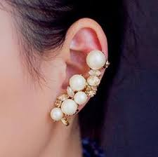 top earing ear cuff wrap clip earring pearl earrings