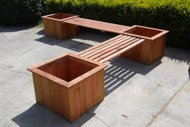 Wrap Around Deck by Bench Deck Bench Planter Box Woodworking Projects Plans Amazing