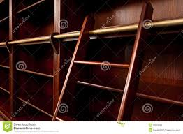 Bookcase With Ladder Empty Bookcase With Ladder Royalty Free Stock Photos Image 23578928