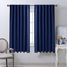 Blue Window Curtains Blackout Draperies Curtains Window Drapes Navy Blue