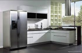 White Lacquer Kitchen Cabinets Kitchen Cabinets White Lacquered Glossy And Modern C 003