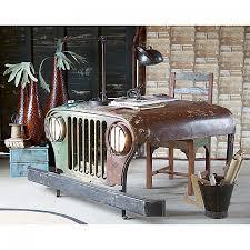 deco bureau pro bureau jeep staal gerecycled hout jeep deco pinterest