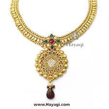 necklace elegant images Short golden necklace elegant kundan simple set hayagi jpg