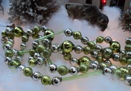 shape vintage glass bead tree garland