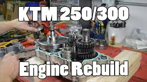 how to ktm 250 300 380 sx mxc exc top u0026 bottom engine rebuild