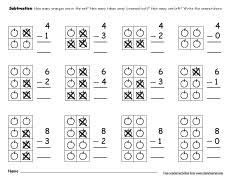printable count and subtract take away worksheets for preschools
