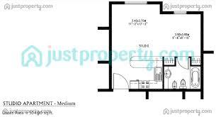 Floor Plan Studio Type Al Ramth Version 1 Floor Plans Justproperty Com