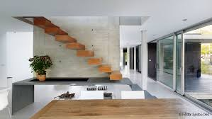 Architectural Stairs Design Interior Wooden Modern Stair Featuring Stair Wall Mount