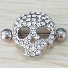 girls nipple rings images Women nipple piercing surgical steel skull design shield nipple jpg