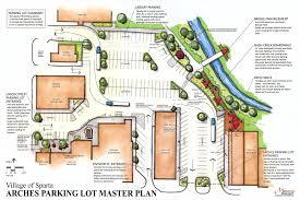 parking lot floor plan village hopes grant funding will help transform downtown parking lot