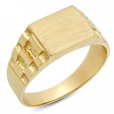 signet wedding ring men s 14k gold signet rolex style ring