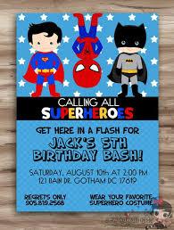 superhero birthday party invitations stephenanuno com