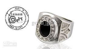 titanium style rings images Fashion jewelry men 39 s ring black onyx men 39 s titanium steel ring jpg