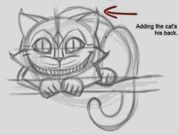 draw cheshire cat easily
