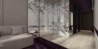 mirrored room divider interior design ideas