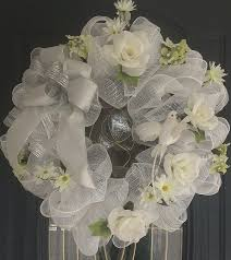 wedding wreaths 22 best wreaths made by and me images on deco mesh