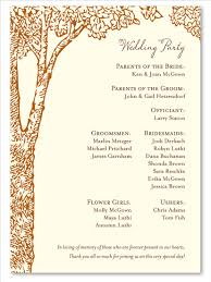 In Memory Of Wedding Program Forest Wedding Programs On Premium Recycled Paper La Foret By