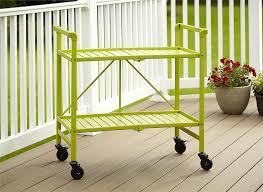 amazon com indoor or outdoor folding metal rolling serving