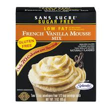cuisiner sans four sans sucre low gluten free mousse mix vanilla 2 pk from