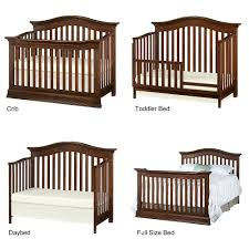 Crib Converts To Toddler Bed Furniture Baby Cache Montana Crib With Original Rustic Look