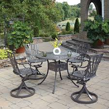Patio Dining Sets - 6 7 person round patio dining sets patio dining furniture