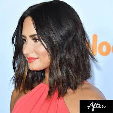 on trend the lob the hailey baldwin nina dobrev short hair trend wavy lob lob and