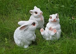 rabbit garden 3 pieces a set resin rabbit garden decor home desk ornaments