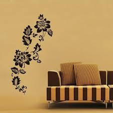diy home decor wall black flowers wedding room decoration wall art mural poster sticker