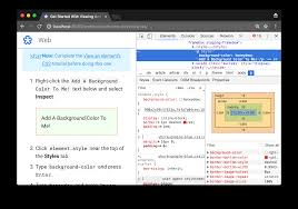 get started with viewing and changing css tools for web