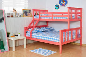 FoxHunter Bunk Bed Wooden Frame Children Kids Triple Sleeper No - Matresses for bunk beds