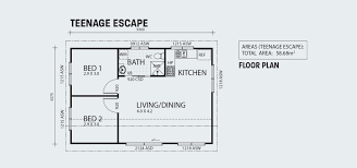 teenage escape two bedroom granny flat backyard shacks ranbuild