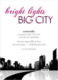 going away party invitations bright lights big city going away party invitation going away
