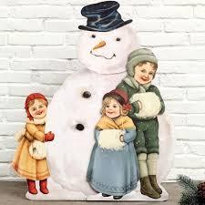 wooden snowman vintage wooden snowman fashion christmas decorations antique